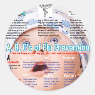 ABC's Flu Prevention Chiro.jpg Round Sticker