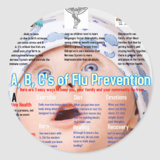 ABC's Flu Prevention Chiro.jpg Stickers