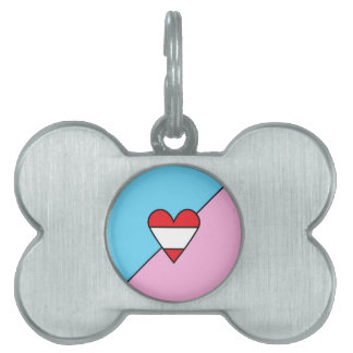 """ABDL Pride Flag Bone Dog Tag for Your """"Pet"""" Pet ID Tags"""