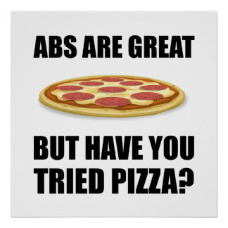 Abdominals Pizza Poster
