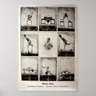 Abdul Ham Vintage Circus Poster
