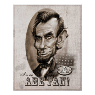 Abe Lincoln Fan Poster