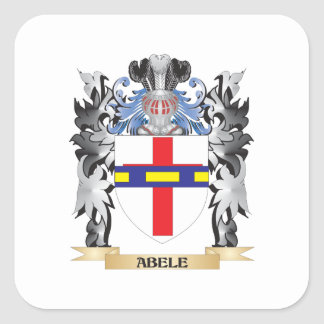 Abele Coat of Arms - Family Crest Square Sticker