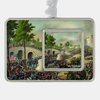 ABH Antietam Silver Plated Framed Ornament