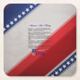 ABH Timeline 1776 Square Paper Coaster