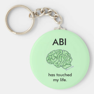 """""""ABI has touched my life"""" keychain"""