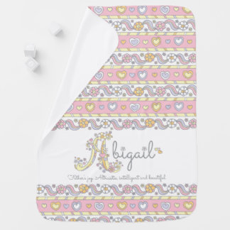 Abigail name and meaning hearts baby blanket
