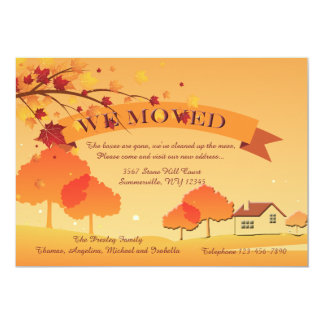 Ablaze With Autumn Colors Moving Announcement