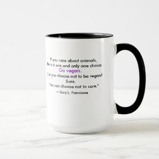 """Abolitionist Vegan"" Word-Cloud - Piggy & Quote Mug"