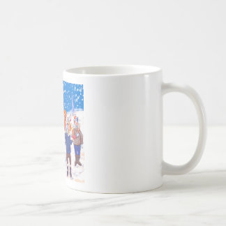 abominable Snowmen of Pluto and Space Cows Basic White Mug