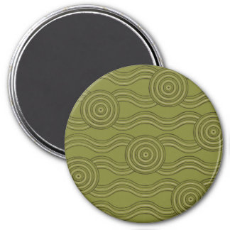 Aboriginal art bush magnet