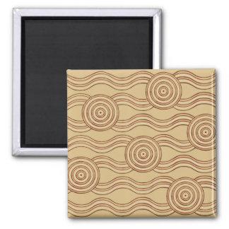 Aboriginal art earth magnet