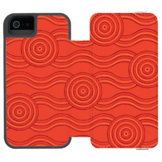 Aboriginal art fire incipio watson™ iPhone 5 wallet case