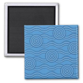 Aboriginal art ocean magnet