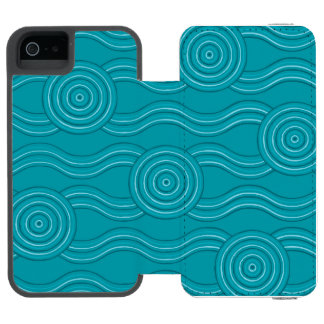 Aboriginal art reef incipio watson™ iPhone 5 wallet case