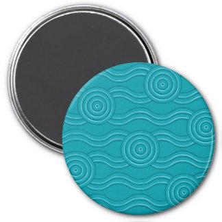 Aboriginal art reef magnet