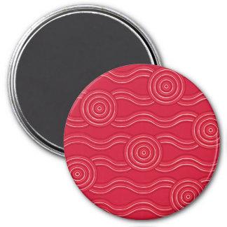 Aboriginal art waratah magnet
