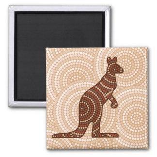 Aboriginal kangaroo dot painting magnet