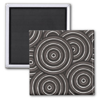 Aboriginal line painting magnet