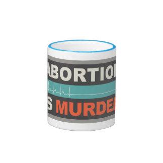 Abortion Is Murder Ringer Mug