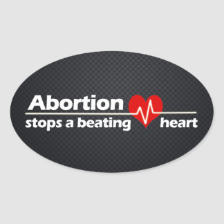 Abortion Stops a Beating Heart Pro-Life Sticker