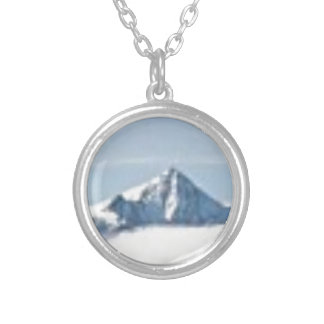 above the clouds silver plated necklace