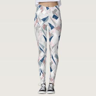 Abract Shimmer Winter Pattern Leggings