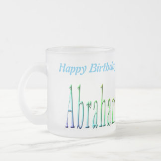 Abraham Happy Birthday Logo, Frosted Beer Mug