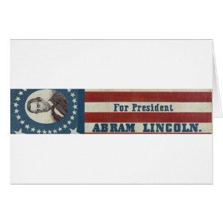 Abraham Lincoln...American Flag Card