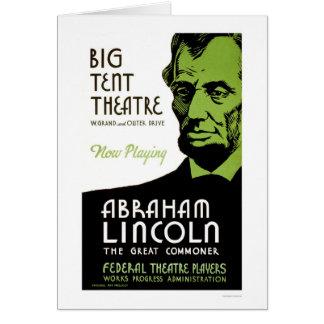 Abraham Lincoln Drama 1936 WPA Card
