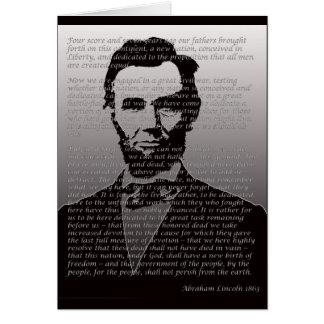 Abraham Lincoln Gettysburg Address Card