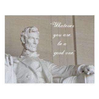 Abraham Lincoln in Washington DC Postcard