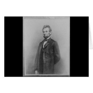 Abraham Lincoln, January 1864 & Gettysburg Address Card
