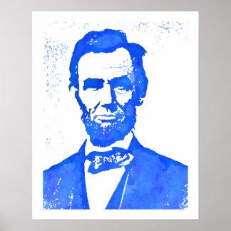 Abraham Lincoln Pop Art Portrait Poster