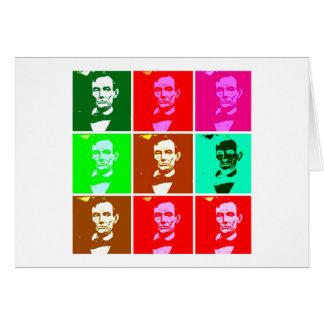 Abraham Lincoln Pop Art T-shirts, Sweats Card