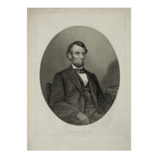 ABRAHAM LINCOLN Portrait by J.H. Bufford & Sons Poster