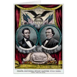 Abraham Lincoln Presidential Campaign 1864 Card