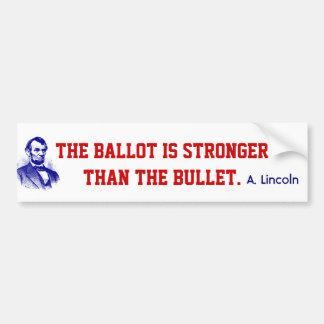 Abraham Lincoln Quote Bumper Stickers Ballot Vote