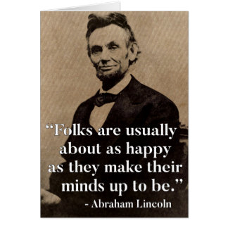 Abraham Lincoln Quote on Happiness Card