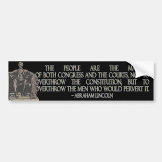 Abraham Lincoln Quote on the Constitution Bumper Sticker