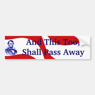 Abraham Lincoln Red White Blue Bumper Stickers