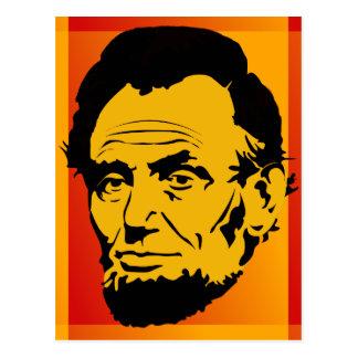 Abraham Lincoln Retro Pop Art Postcard