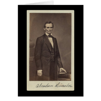 Abraham Lincoln Signed Card 1860