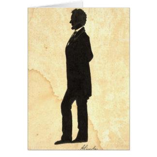 Abraham Lincoln Silhouette 1860 Card