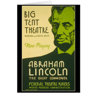 Abraham Lincoln The Great Commoner Card