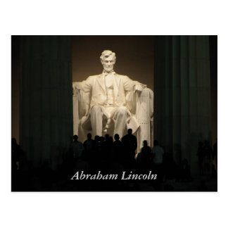 Abraham Lincoln, washington DC Postcard