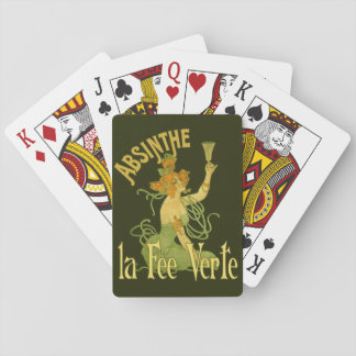 Absinthe Green Fairy La Fee Verte,Poster Steampunk Playing Cards
