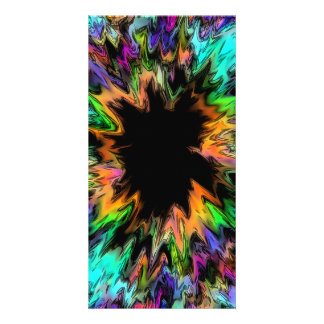 Abstract 61 personalized photo card
