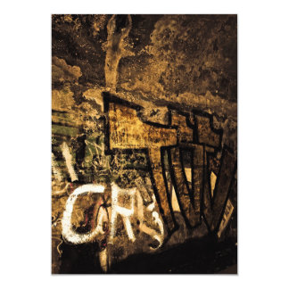 abstract-71487 ABSTRACT GRAFFITI CITY WALL WALLPAP 13 Cm X 18 Cm Invitation Card