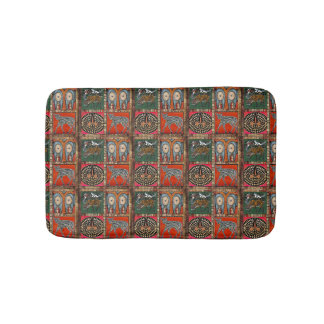 Abstract African Art tribal colorful mat